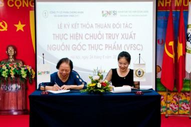 VinaCert và NFSI ký kết thỏa thuận đối tác thực hiện chuỗi truy xuất nguồn gốc thực phẩm