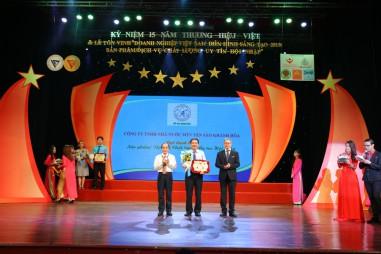 Yến sào Khánh Hòa được vinh danh Doanh nghiệp Việt Nam điển hình sáng tạo