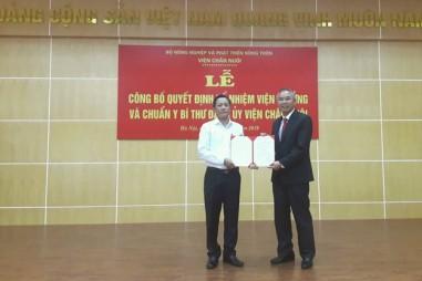 TS. Phạm Công Thiếu được bổ nhiệm giữ chức Viện trưởng Viện Chăn nuôi