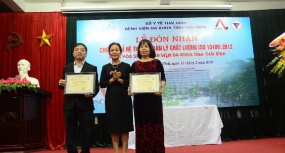 Phòng xét nghiệm y tế đầu tiên của tỉnh Thái Bình đạt công nhận ISO 15189