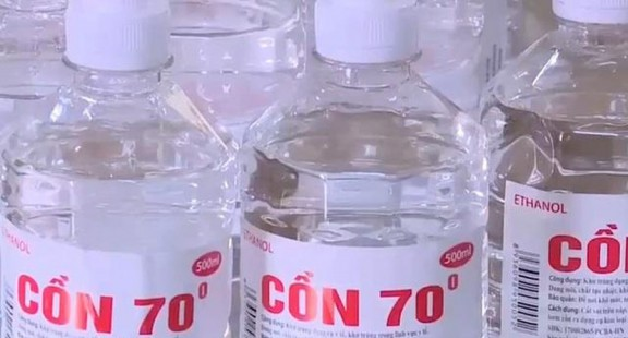 Phát hiện hàng nghìn chai cồn y tế có methanol