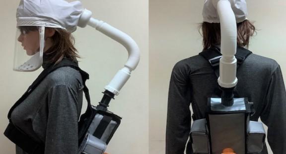 Mũ thở khí tươi ngăn virus do Đại học Bách khoa Hà Nội thiết kế