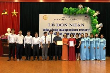 AOSC trao Chứng chỉ hệ thống chất lượng đạt tiêu chuẩn ISO 15189:2012 cho bệnh viện C Đà Nẵng