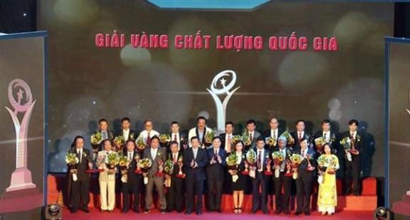 SANEST Khánh Hòa là 1 trong 21 doanh nghiệp nhận Giải Vàng Chất lượng Quốc gia năm 2020